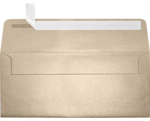 #10 Square Flap Envelopes (4 1/8 x 9 1/2) Taupe Metallic