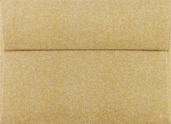 A7 Glitter Envelopes 5 1 4 X 7 1 4 Gold Sparkle