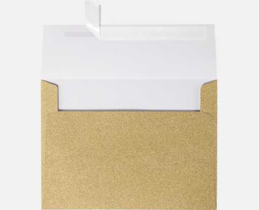 A7 Invitation Envelopes (5 1/4 x 7 1/4) Gold Sparkle
