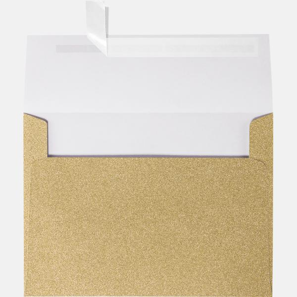 a7 glitter envelopes 5 1 4 x 7 1 4 gold sparkle envelopes com