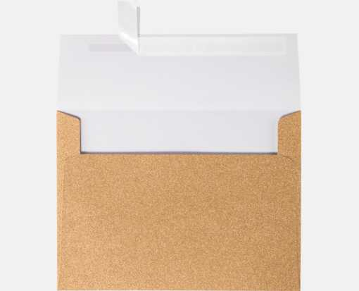 A7 Invitation Envelopes (5 1/4 x 7 1/4) Rose Gold Sparkle