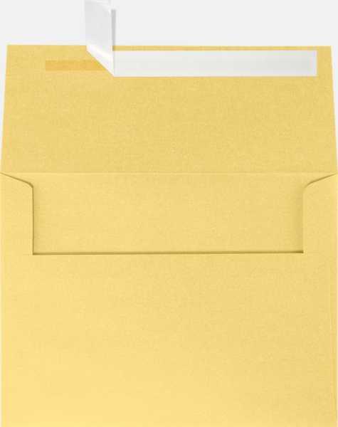 gold metallic a6 envelopes square flap 4 3 4 x 6 1 2