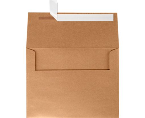 A6 Invitation Envelopes (4 3/4 x 6 1/2) Copper Metallic