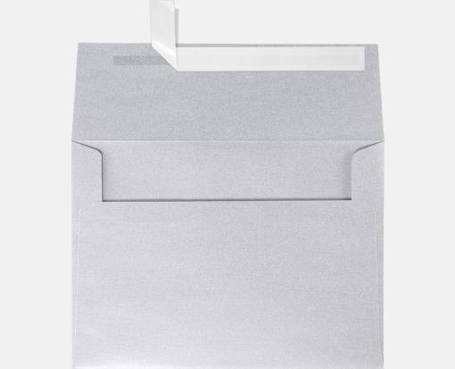 silver metallic a7 envelopes square flap 5 1 4 x 7 1 4