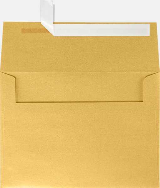gold metallic a7 envelopes square flap 5 1 4 x 7 1 4