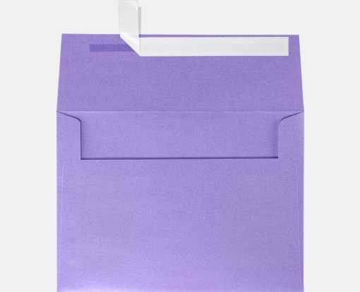A7 Invitation Envelopes (5 1/4 x 7 1/4) Amethyst Metallic