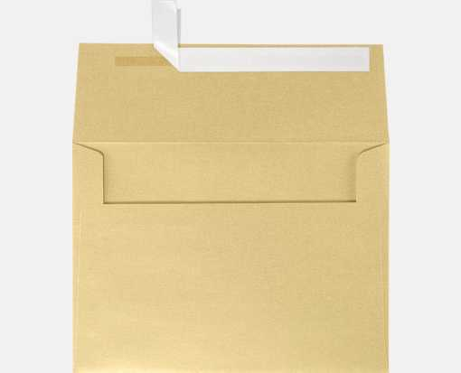 blonde metallic gold a7 envelopes square flap 5 1 4 x 7 1 4