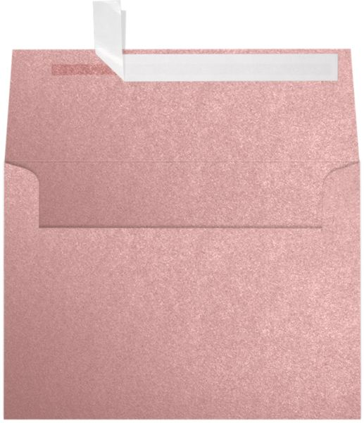 Misty Rose Metallic Sirio Pearl Pink A7 Envelopes Square Flap