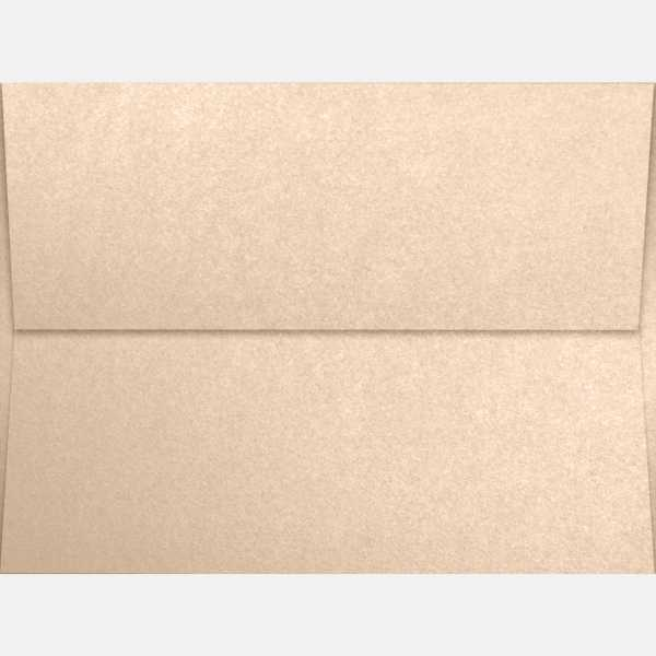 coral metallic stardream natural a7 envelopes square flap 5