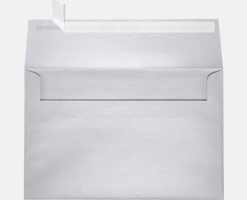 silver metallic a9 envelopes square flap 5 3 4 x 8 3 4