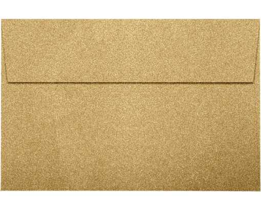 A9 Invitation Envelopes (5 3/4 x 8 3/4) Gold Sparkle