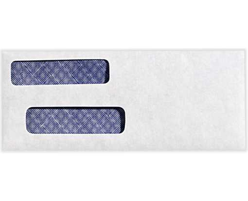 Check Double Window Envelopes 24lb. Bright White