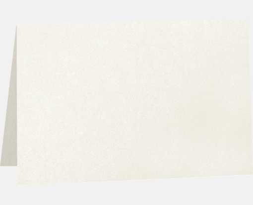 5 x 7 Folded Card - 105lb. Quartz Metallic Quartz Metallic