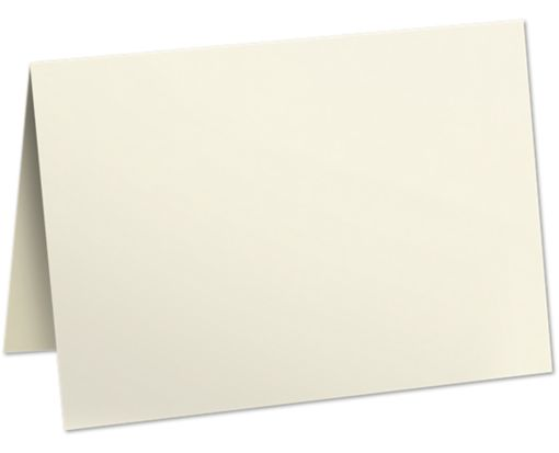 5 x 7 Folded Card - 80lb. Natural Natural