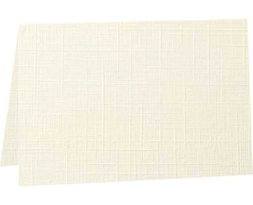 5 x 7 Folded Card - 100lb. Natural Linen Natural Linen