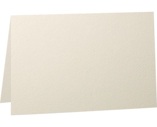 5 x 7 Folded Card - 92lb. Natural White - 100% Cotton Natural White - 100% Cotton