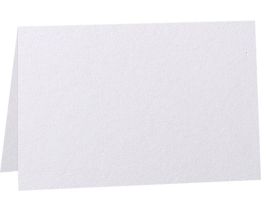 5 x 7 Folded Card - 92lb. Bright White - 100% Cotton Bright White