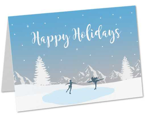 5 x 7 Folded Card Set (Set of 25) Happy Holiday's