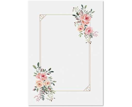 5 x 7 Invitation Floral Pink