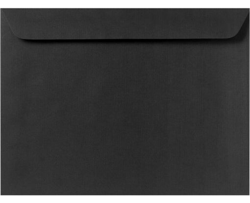 9 1/2 x 12 5/8 Booklet Envelopes Black Linen