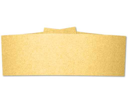 5 x 2 Belly Bands  Gold Metallic
