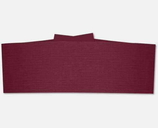 5 x 2 Belly Bands  Burgundy Linen