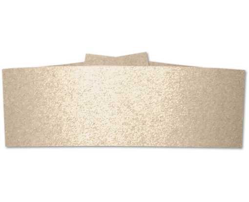 5 x 2 Belly Bands  Taupe Metallic