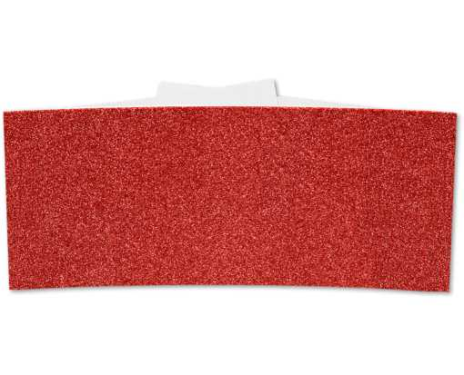 5 x 2 Belly Bands Holiday Red Sparkle