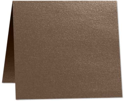 5 x 5 Folded Square Card Bronze Metallic
