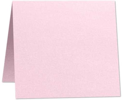 5 x 5 Folded Square Card Rose Quartz Metallic