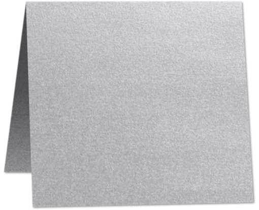 5 x 5 Folded Square Card Silver Metallic