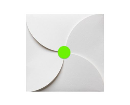 1.625 Circle Labels, 24 Per Sheet Fluorescent Green