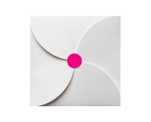 1.625 Circle Labels, 24 Per Sheet Fluorescent Pink