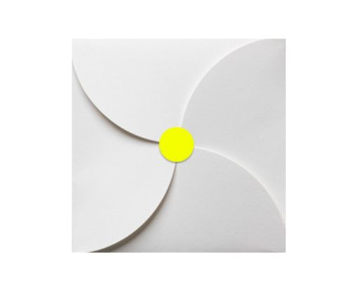 1.625 Circle Labels, 24 Per Sheet Fluorescent Yellow