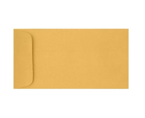 6 x 11 1/2 Open End Envelopes 28lb. Brown Kraft