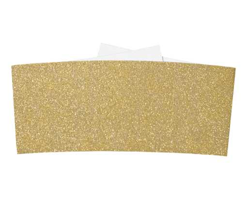 6 1/4 Belly Bands  Gold Sparkle