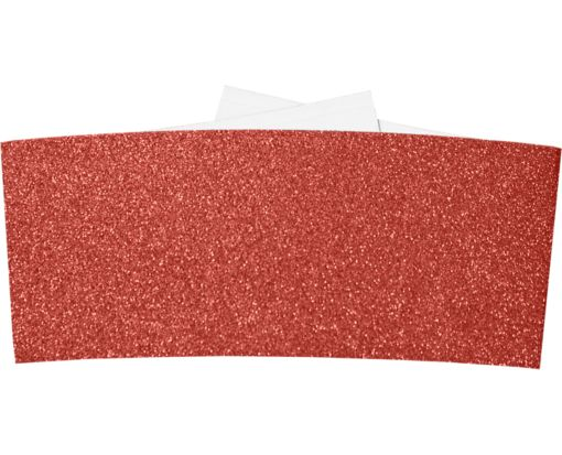 6 1/4 Belly Band Holiday Red Sparkle
