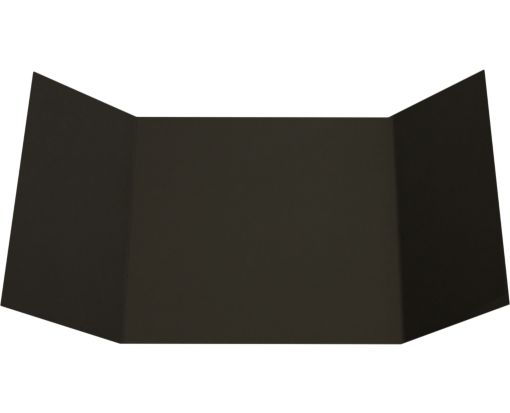 6 1/4 x 6 1/4 Gatefold Invitation Black Linen