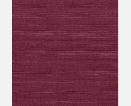 6 1/4 x 6 1/4 Square Flat Card Burgundy Linen