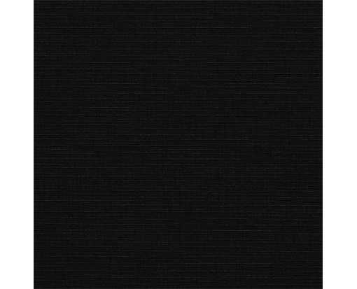 6 1/4 x 6 1/4 Square Flat Card Black Linen