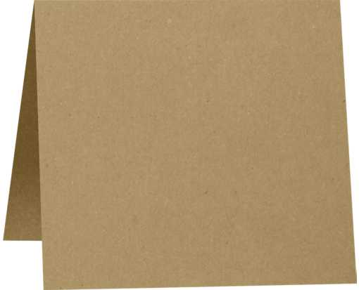 6 1/4 x 6 1/4 Square Folded Card Grocery Bag