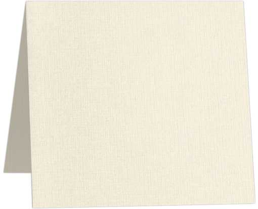6 1/4 x 6 1/4 Square Folded Card Natural Linen