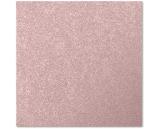 6 1/4 x 6 1/4 Flat Card Misty Rose Metallic