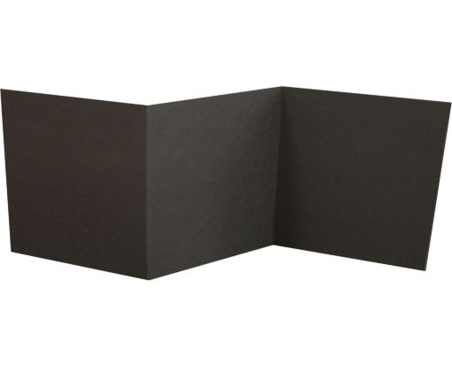 6 1/4 x 6 1/4 Z-Fold Invitation Black Linen