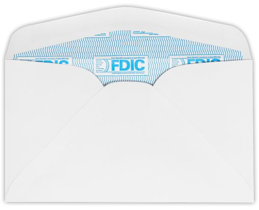 #6 3/4 Regular Envelopes (3 5/8 x 6 1/2) 24lb. White w/ FDIC Sec. Tint