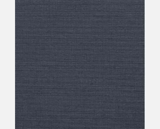 6 3/4 x 6 3/4 Square Flat Card Nautical Blue Linen