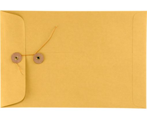 6 x 9 Button & String Envelopes 28lb. Brown Kraft