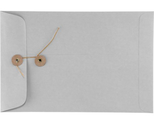 6 x 9 Button & String Envelopes 28lb. Gray Kraft
