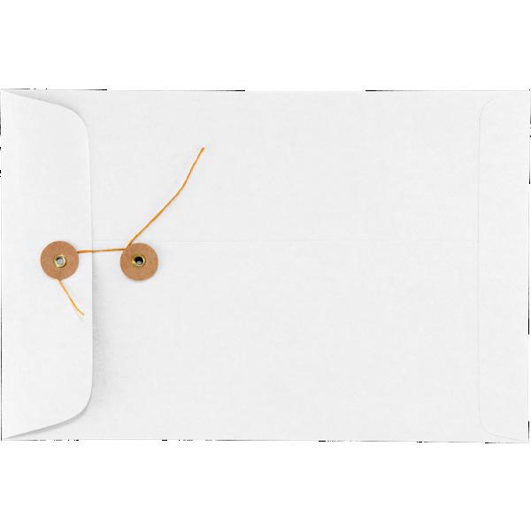 6 x 9 Button & String Envelopes 28lb. White