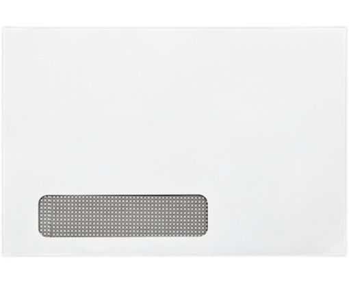 6 x 9 Booklet Window Envelopes 24lb. White w/ Sec. Tint